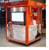 neat airport kiosk